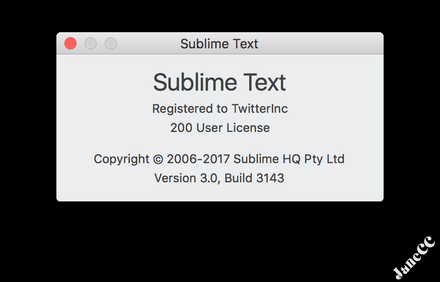 Sublime Text 3 3143 注册码